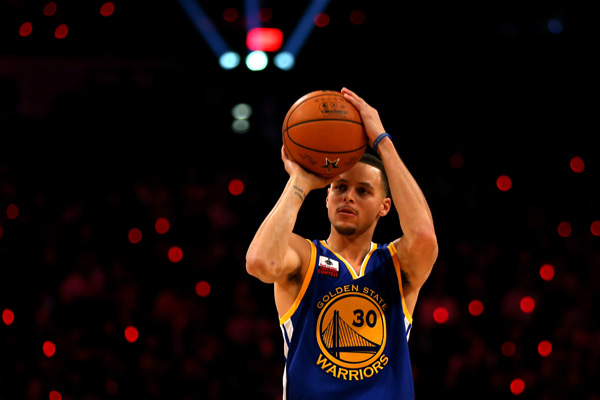 Stephen Curry II who plays for the Golden State Warriors.