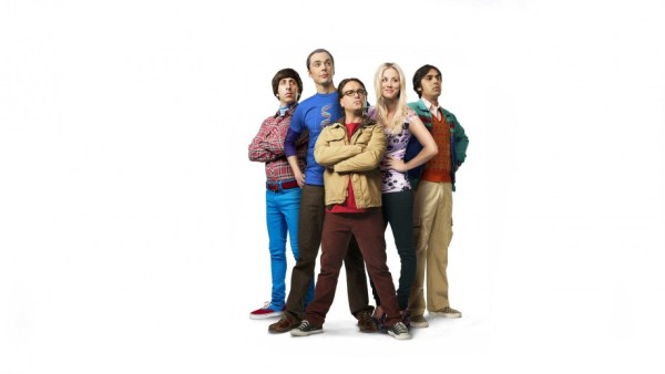 Jim Parson as Sheldon Cooper and his band of geeks and waitress neighbour in The Big Bang Theory