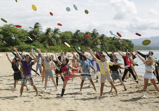 The cast of Teen Beach 2, which airs on Disney Channel.