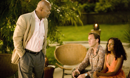 Samuel L Jackson and Kerry Washington in Lakeview Terrace
