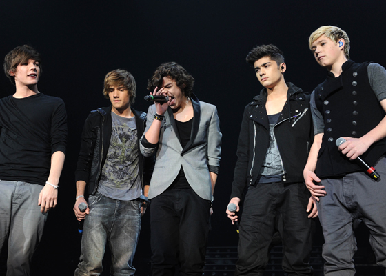 The X Factor Live Tour, Wembley Arena, London, Britain - 06 Mar 2011, One Direction - Louis Tomlinson, Liam Payne, Harry Styles, Zayn Malik And Niall Horan (Photo by Brian Rasic/Getty Images)