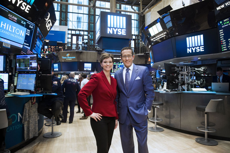 Maggie Lake and Richard Quest.
