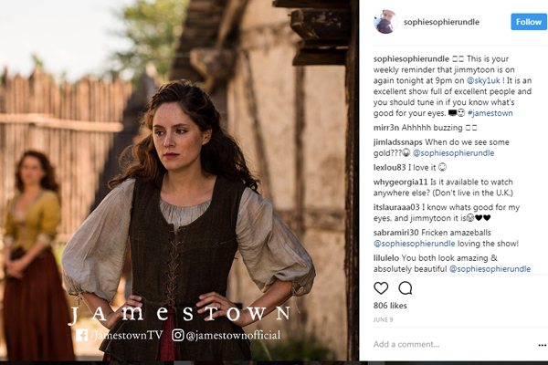 Sophi Rundle on Jamestown