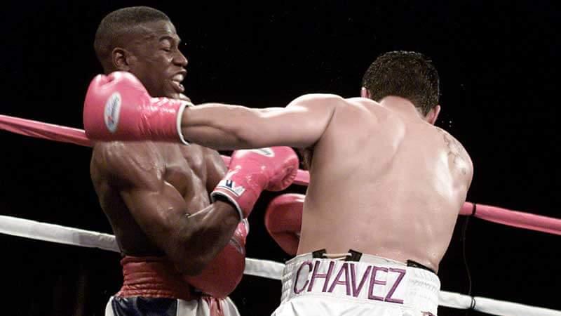Floyd Mayweather against  Jesús Chávez