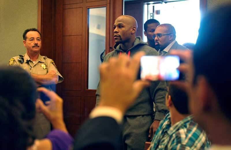 "Floyd ""Money"" Mayweather in court."