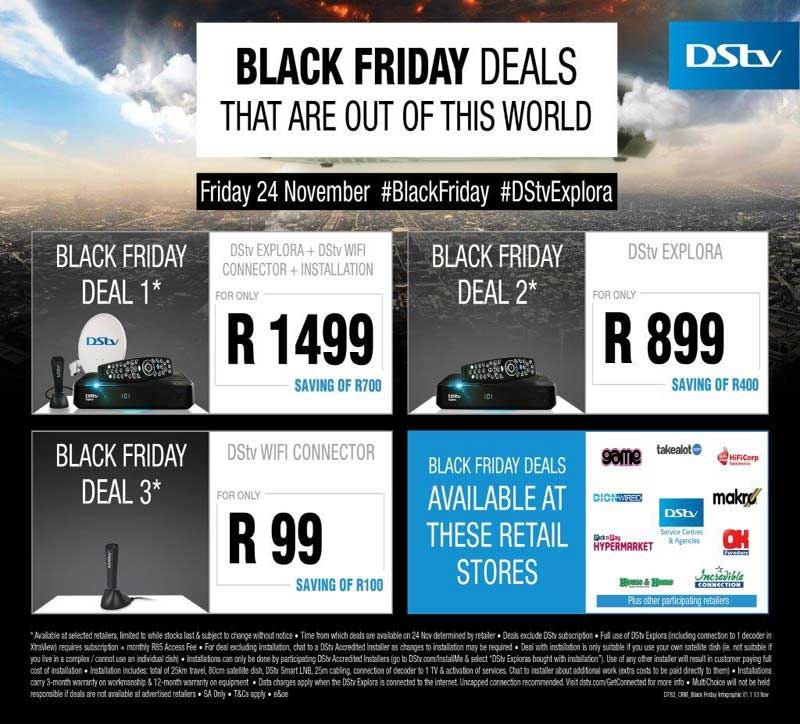DStv Black Friday Deals: DStv Explora, Wifi Connector and more