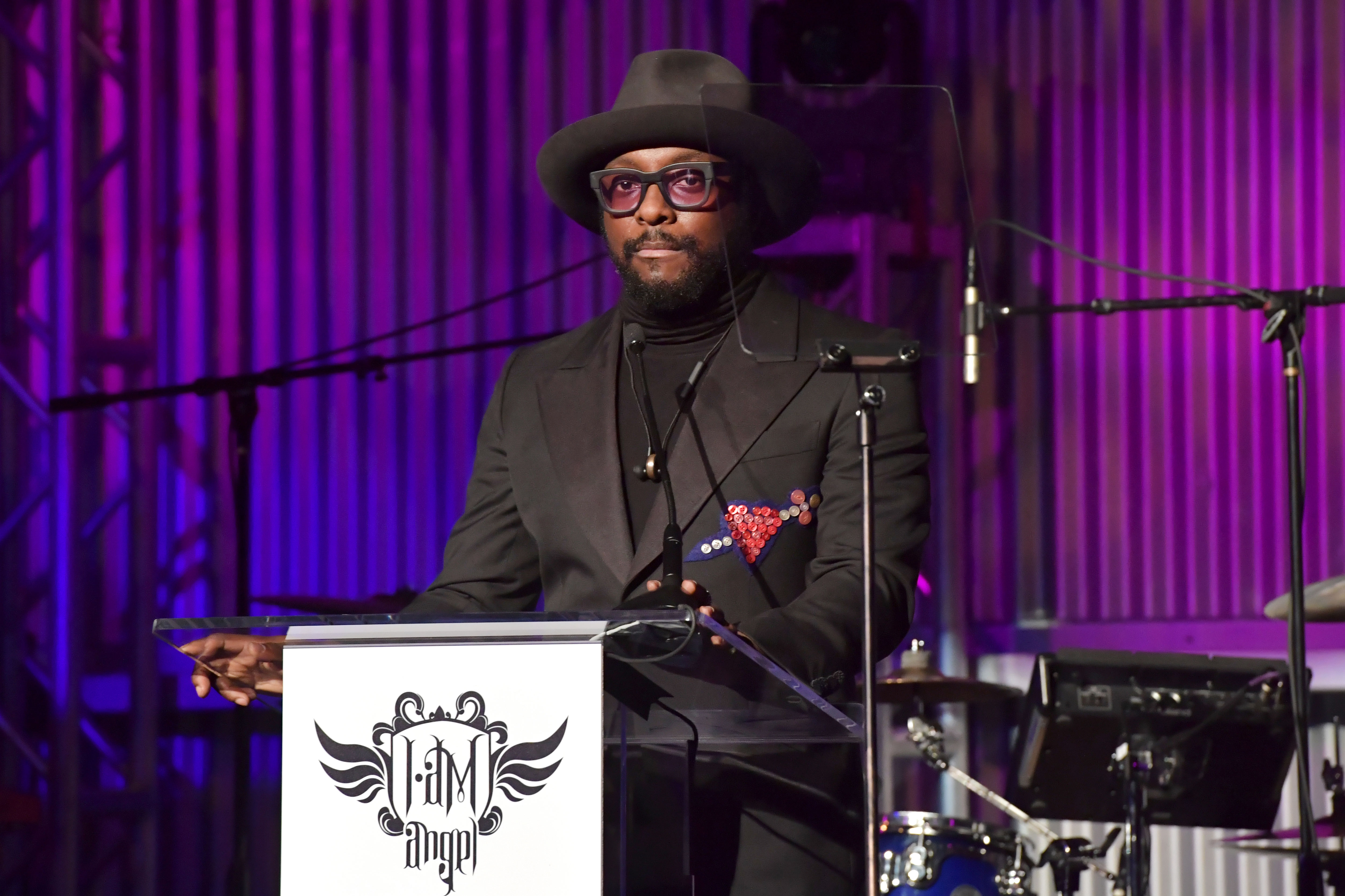 will.i.am onstage during i.am.angel Foundation gala