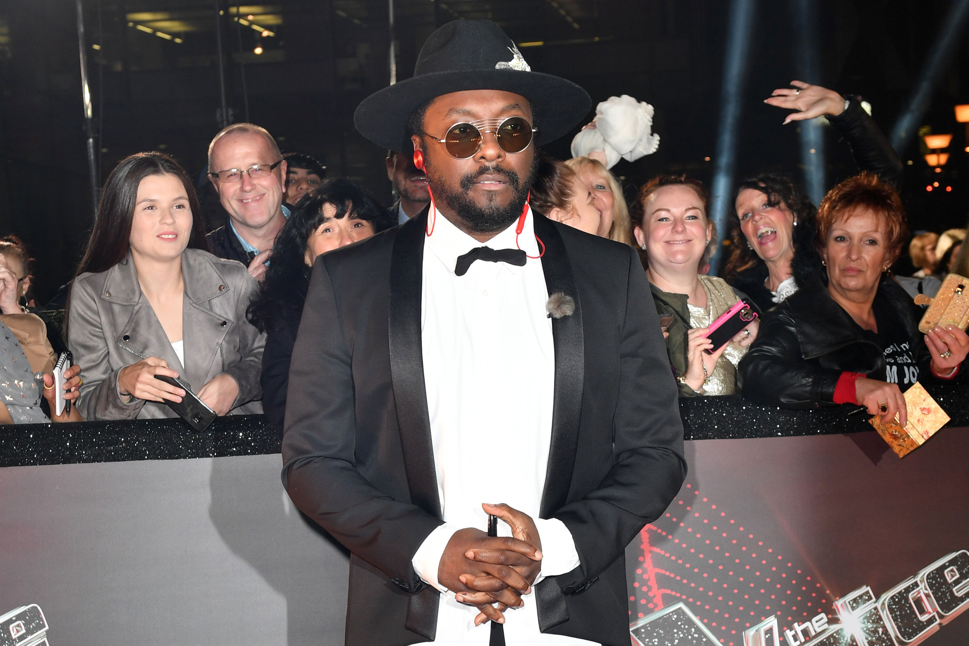 Coach will.i.am on the red carpet for The Voice UK