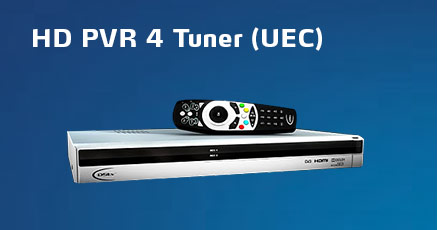UEC 4-tuner HD PVR and SD PVR decoder