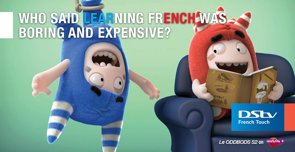 DStv French Touch - Header - Le ODDBODS - teletoon + - English