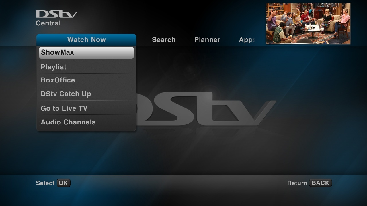 Where do I find ShowMax on my DStv Explora?