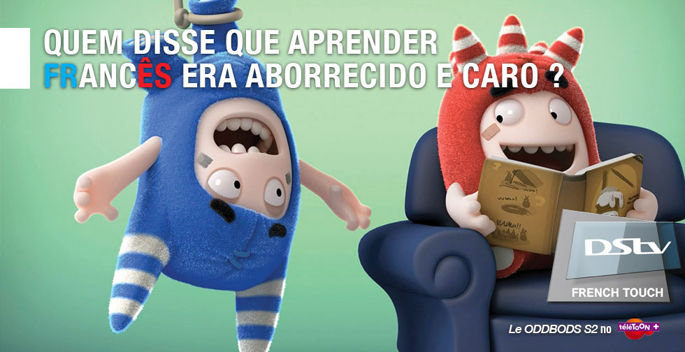 DStv French Touch - Header - Le ODDBODS - teletoon + - Portuguese